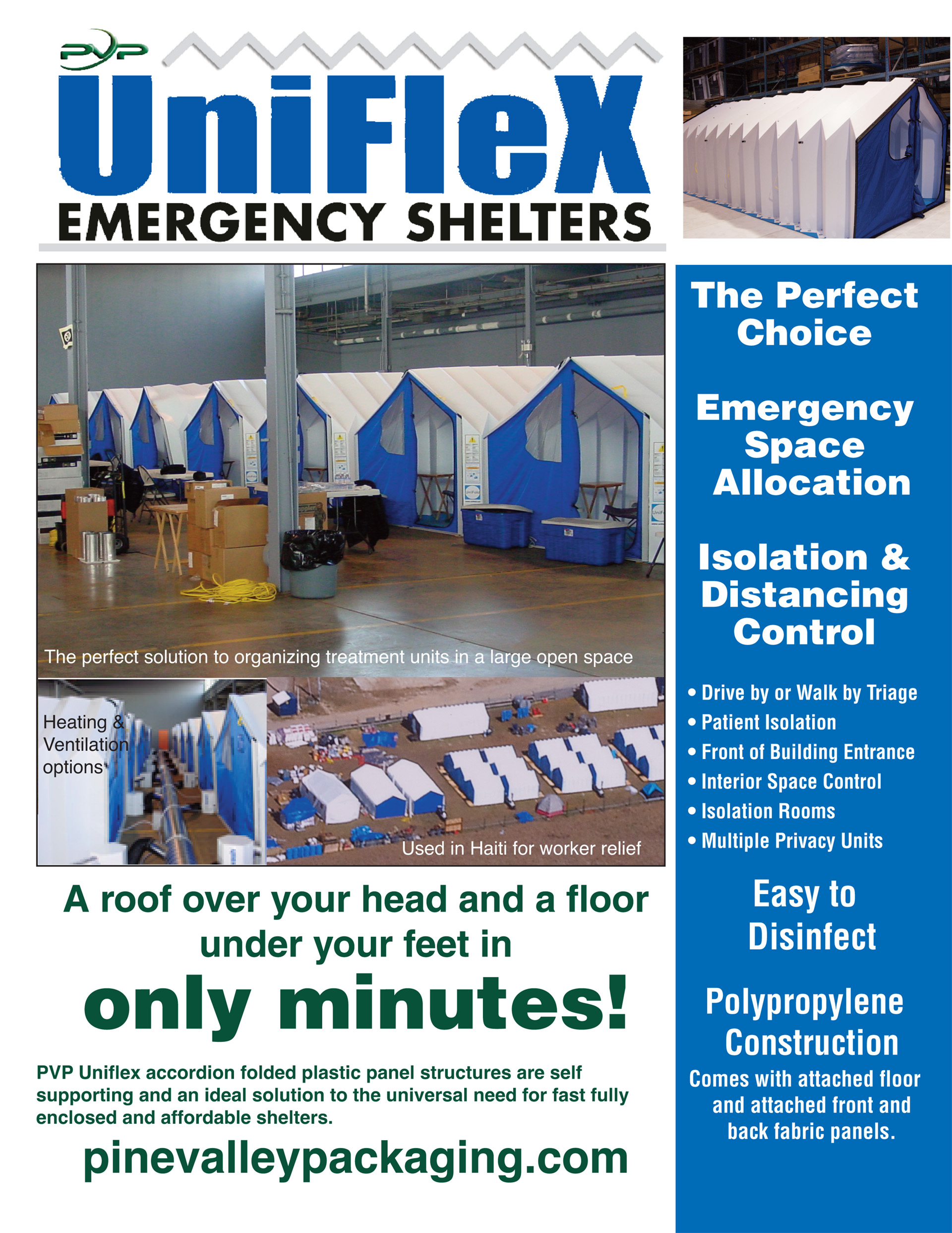 PVP - Emergency Shelters   Pine Valley Packaging