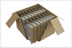 Medical corrugated dunnage